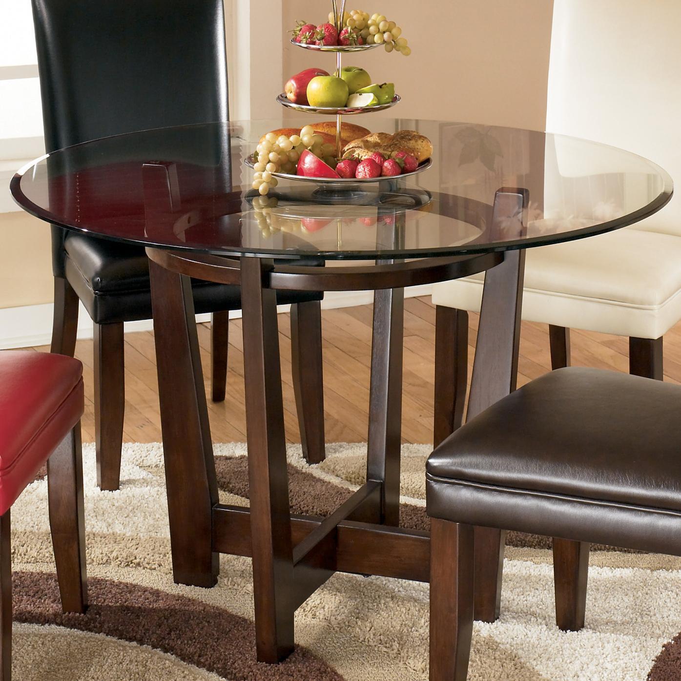 Ashley Furniture Signature Design Charrell D357 15 Round Glass Top Table Del Sol Furniture Kitchen Tables