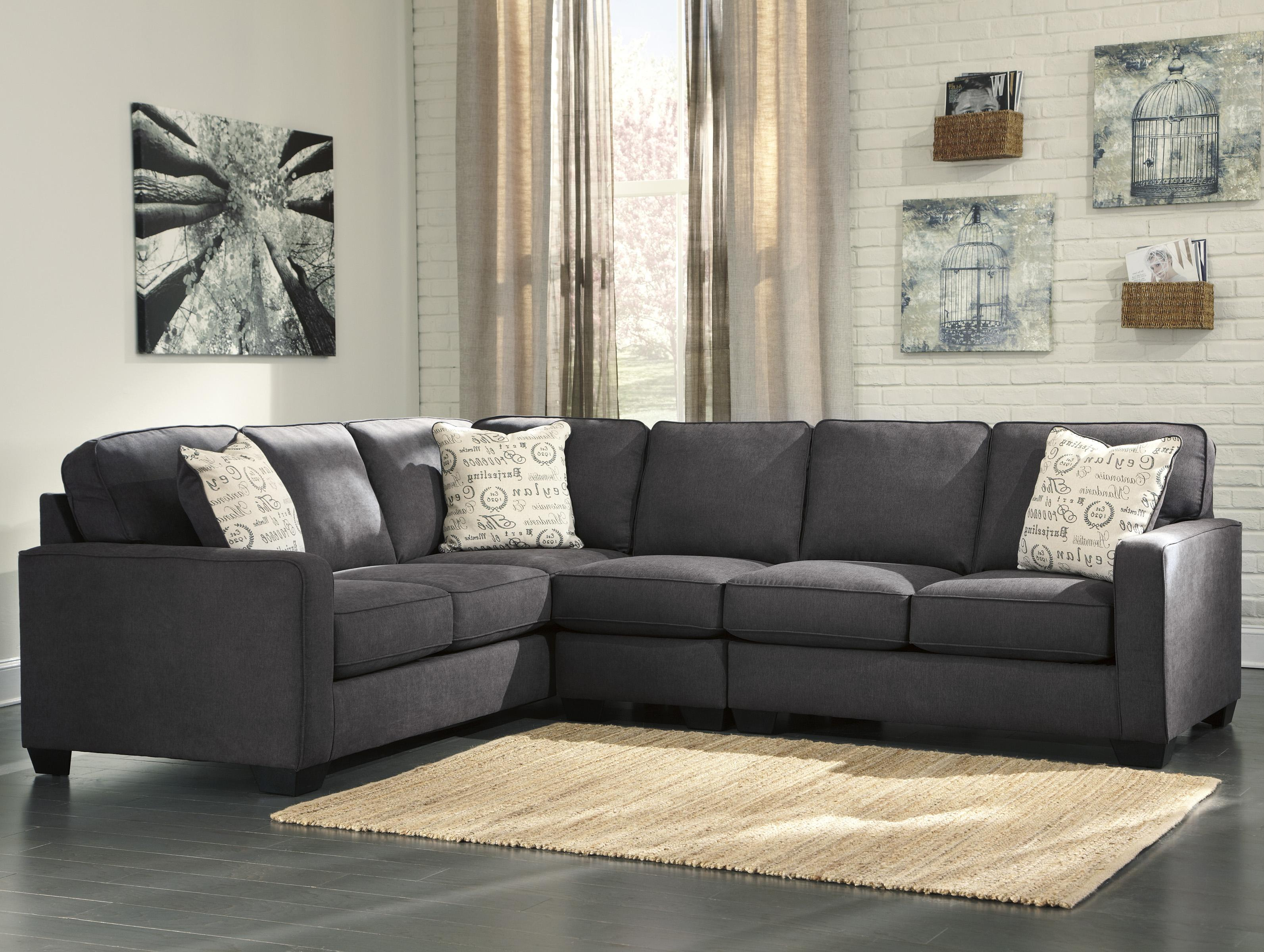 alenya charcoal 3 piece sectional with right loveseat