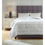 Signature Design By Ashley Bedding Sets Q337003q Queen Adrianna White Gray Comforter Set Household Furniture Bedding Sets
