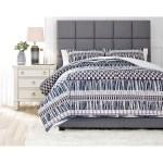 Ashley Signature Design Bedding Sets Q475003k Shilliam Navy Rust King Comforter Set Dunk Bright Furniture Bedding Sets
