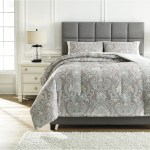 Signature Design By Ashley Bedding Sets Q780003q Queen Noel Gray Tan Comforter Set Furniture And Appliancemart Bedding Sets