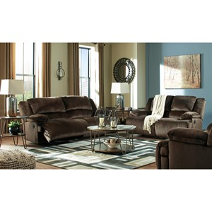 Clonmel Reclining Sectional With Pressback Chaise