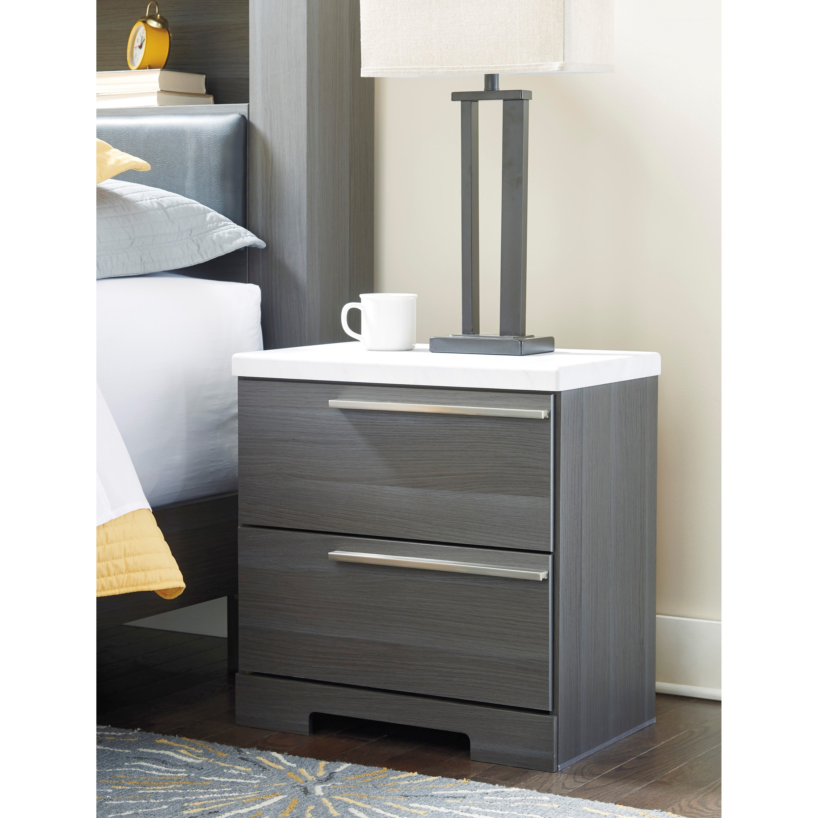 Signature Design By Ashley Foxvale Two Drawer Nightstand