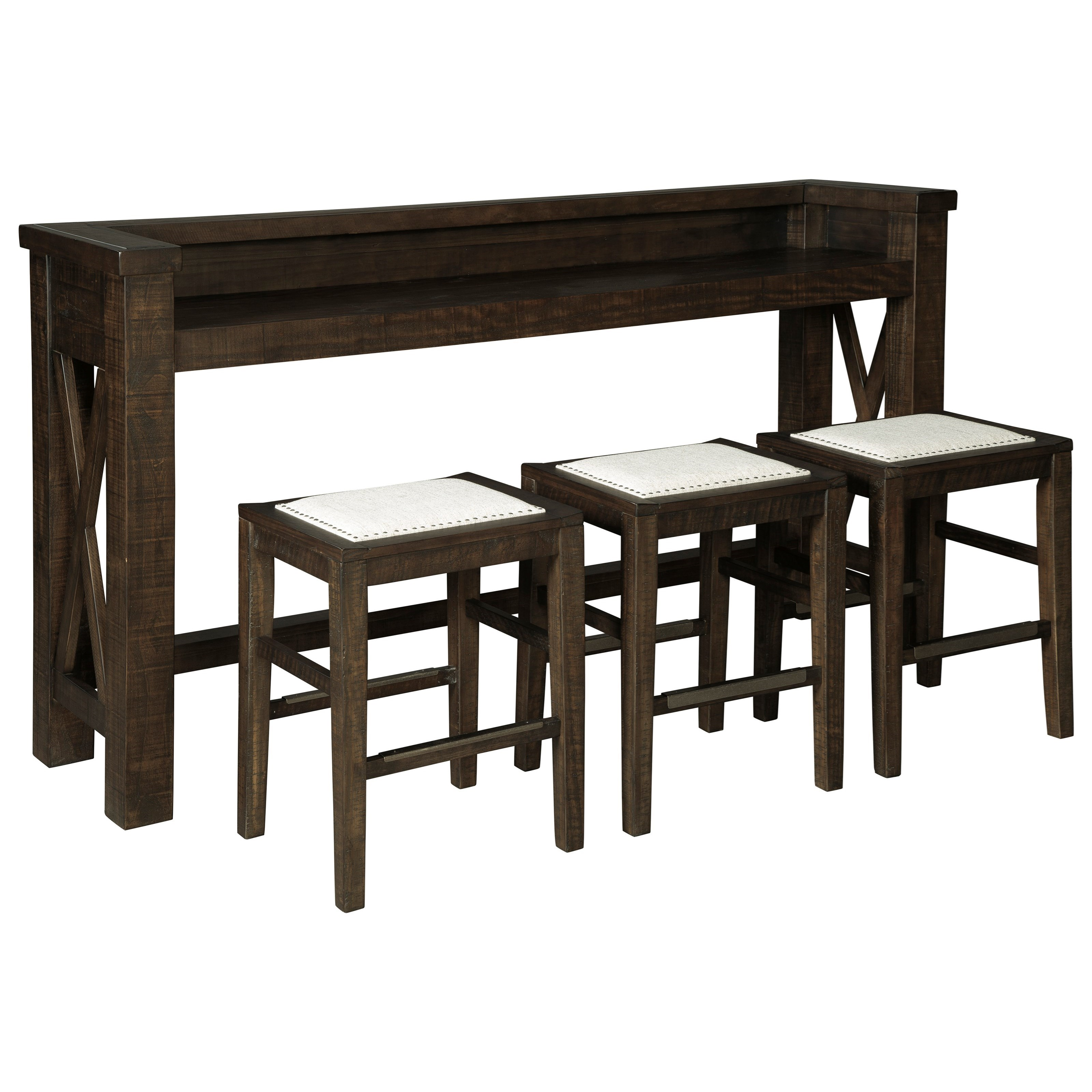 Ashley Signature Design Hallishaw Counter Height Bar Table Set With 3 Stools Rooms And Rest Pub Table And Stool Sets