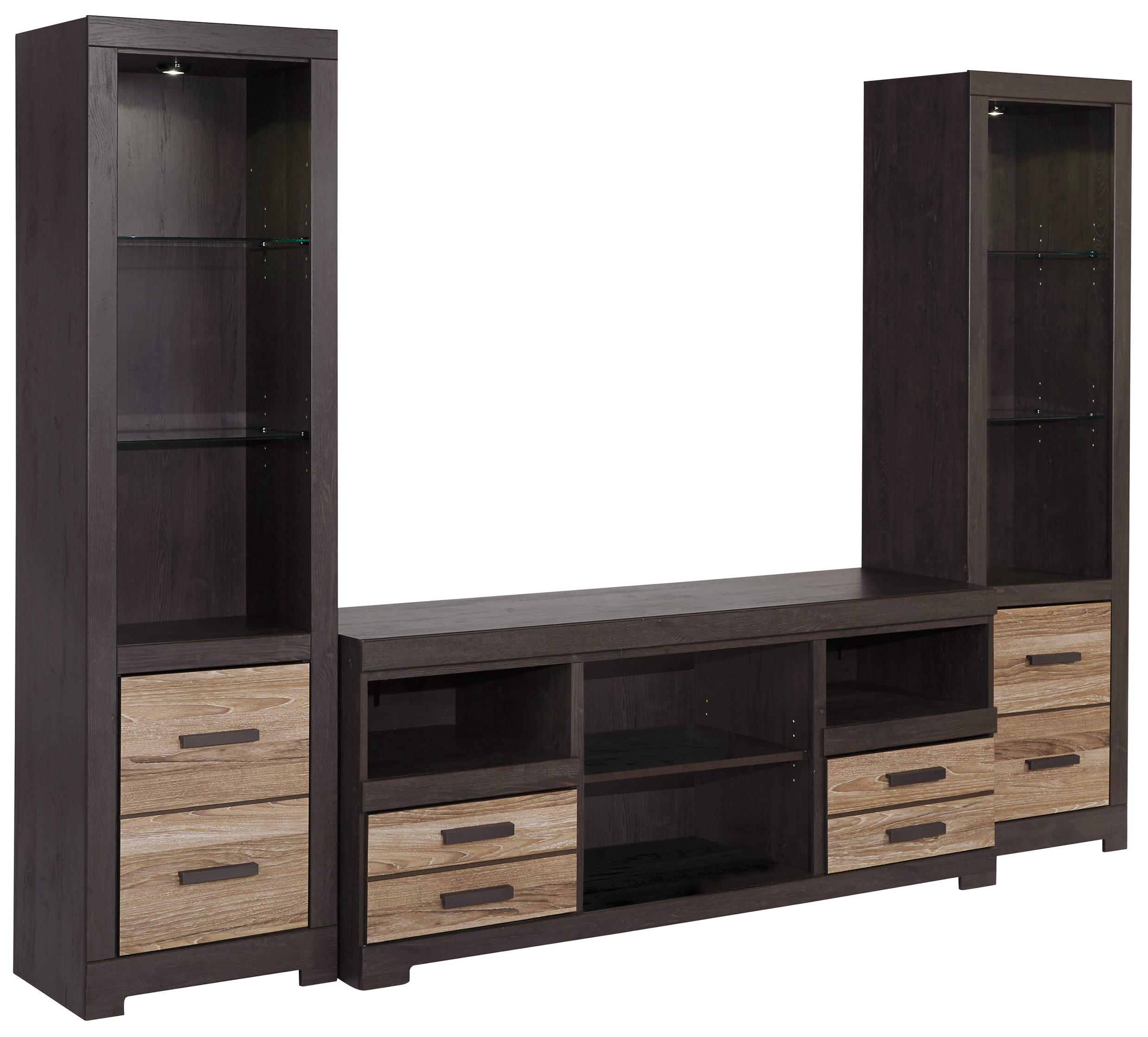 Signature Design By Ashley Harlinton Large TV Stand Amp 2