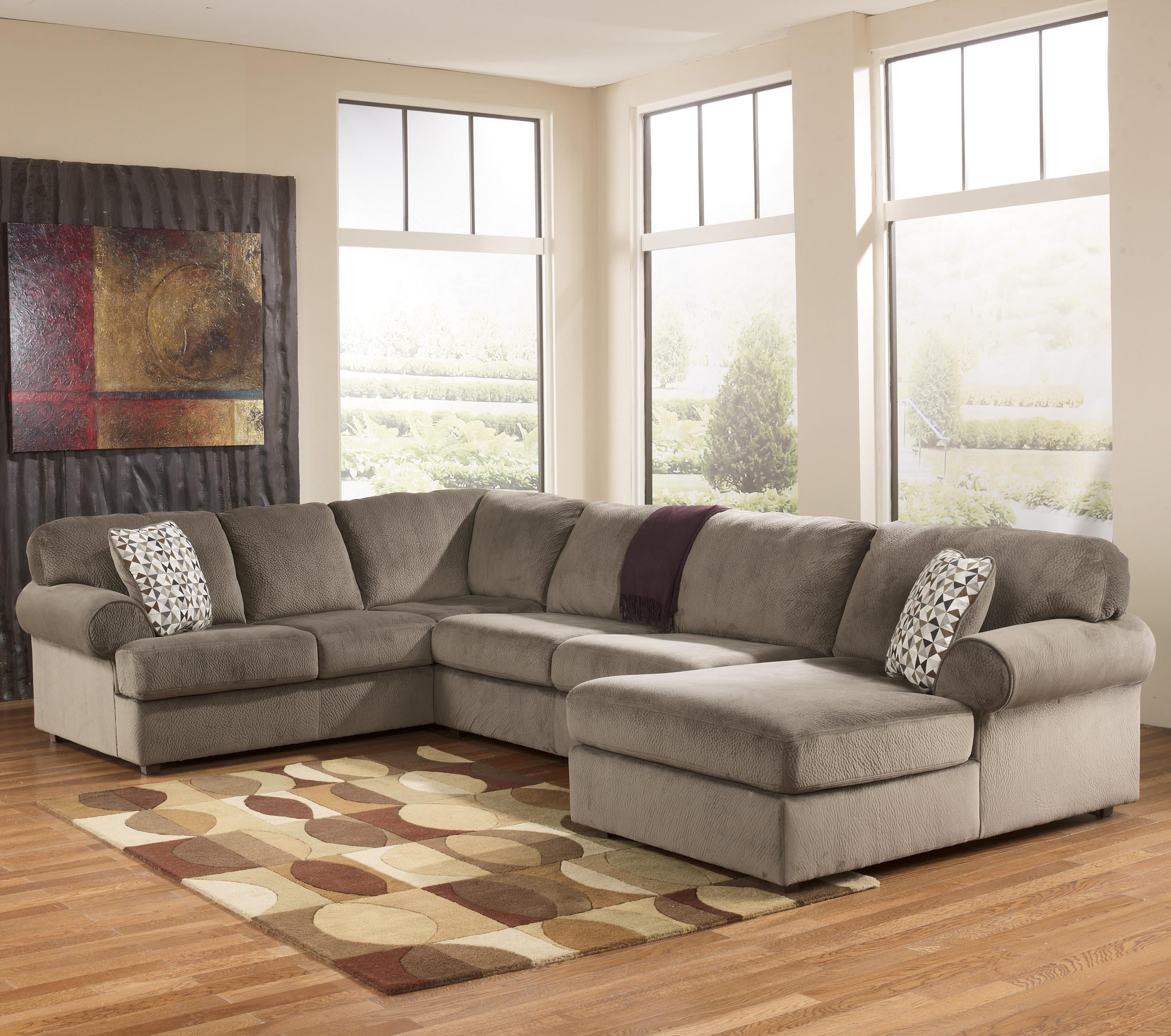 Jessa Place Dune Sectional Sofa With Right Chaise