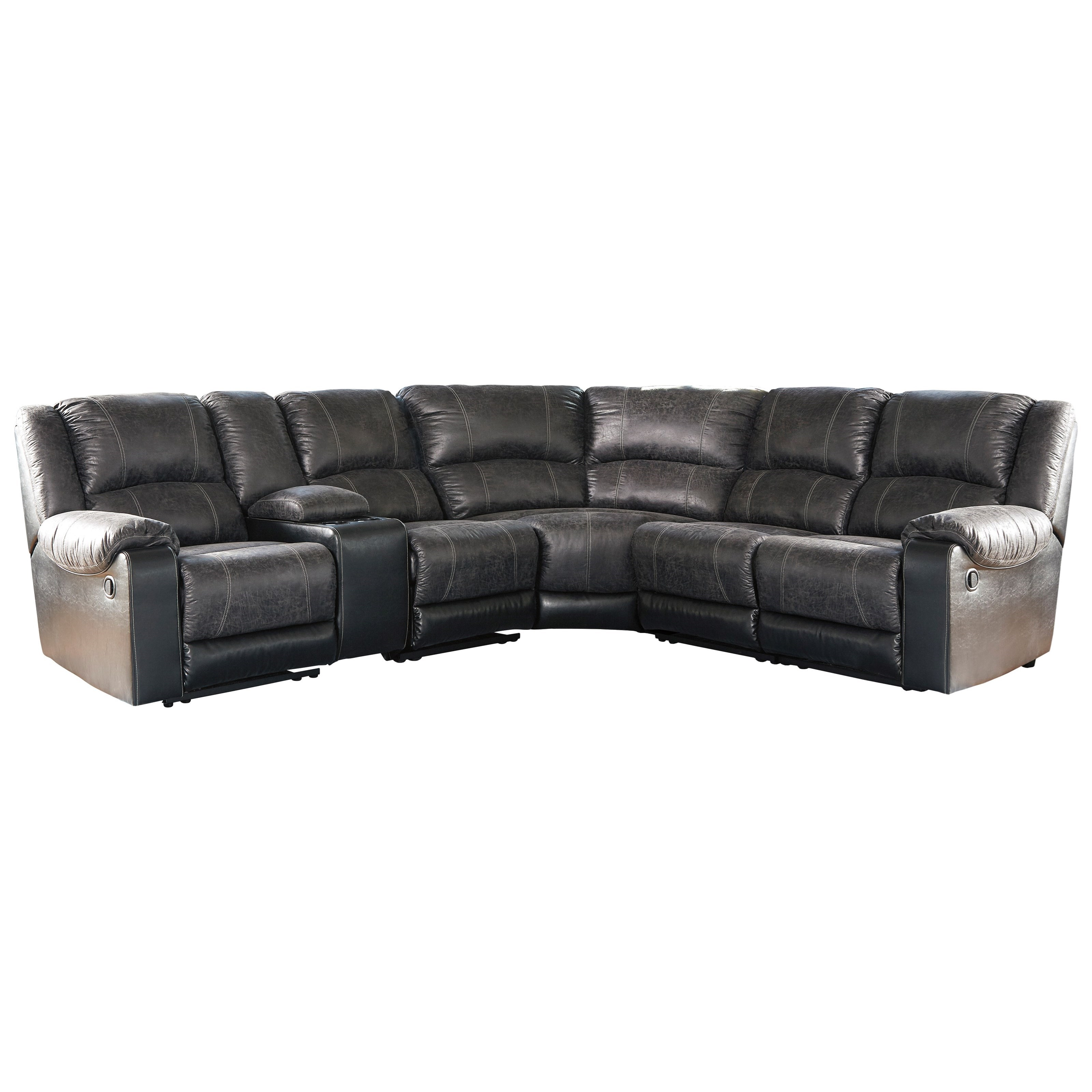 nantahala reclining sectional with console
