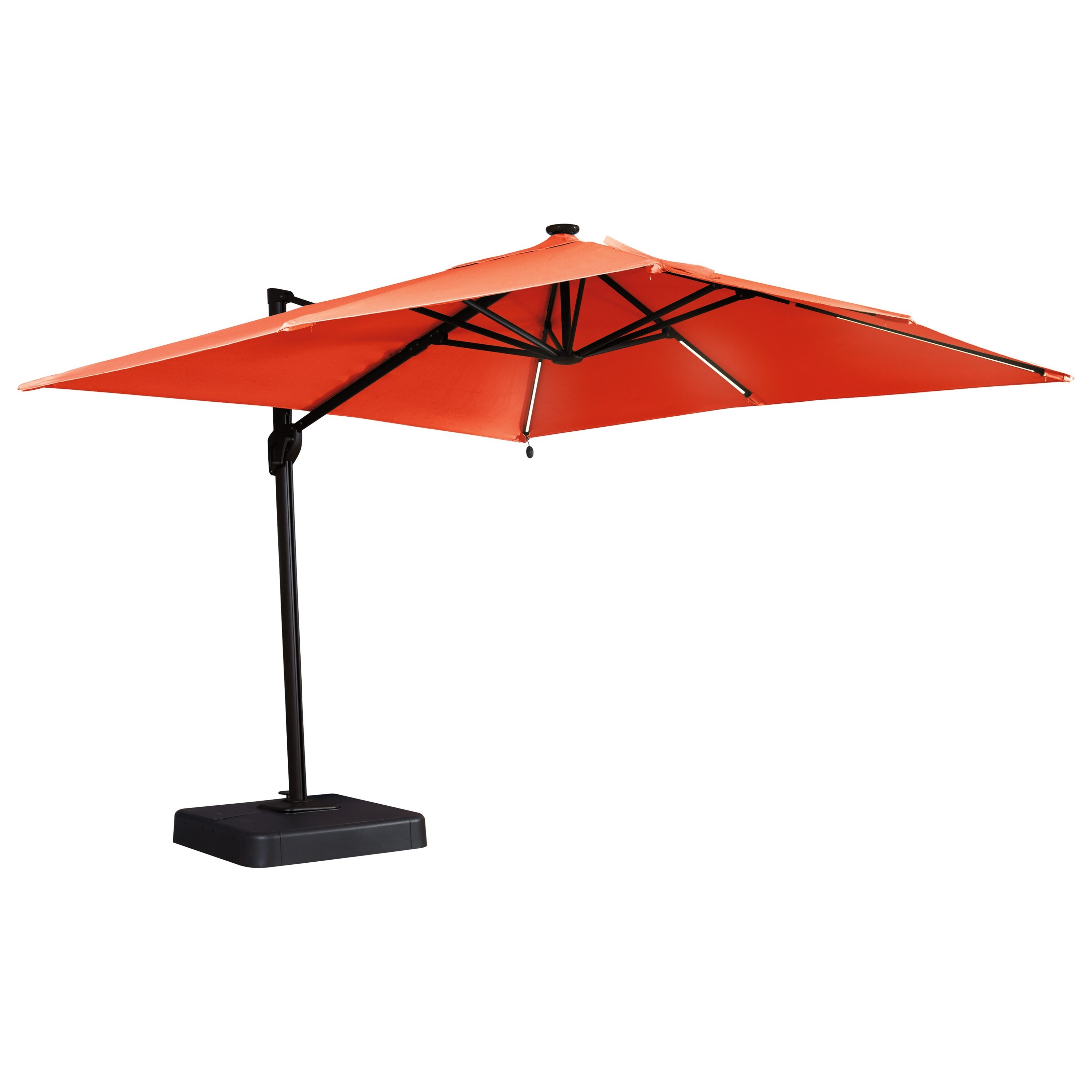 Signature Design By Ashley Oakengrove Coral Large Cantilever Umbrella Boulevard Home