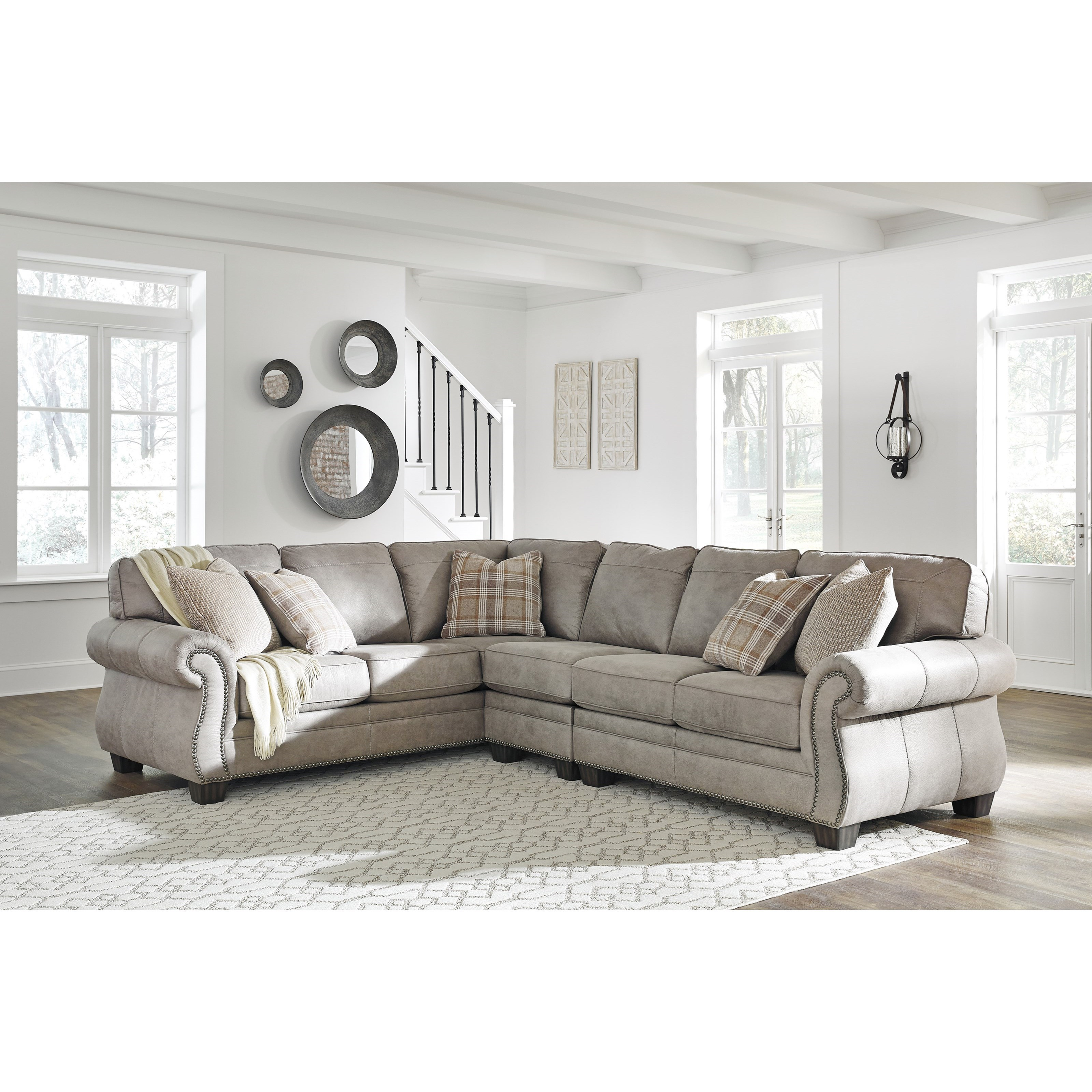 olsberg 3 piece l shaped sectional