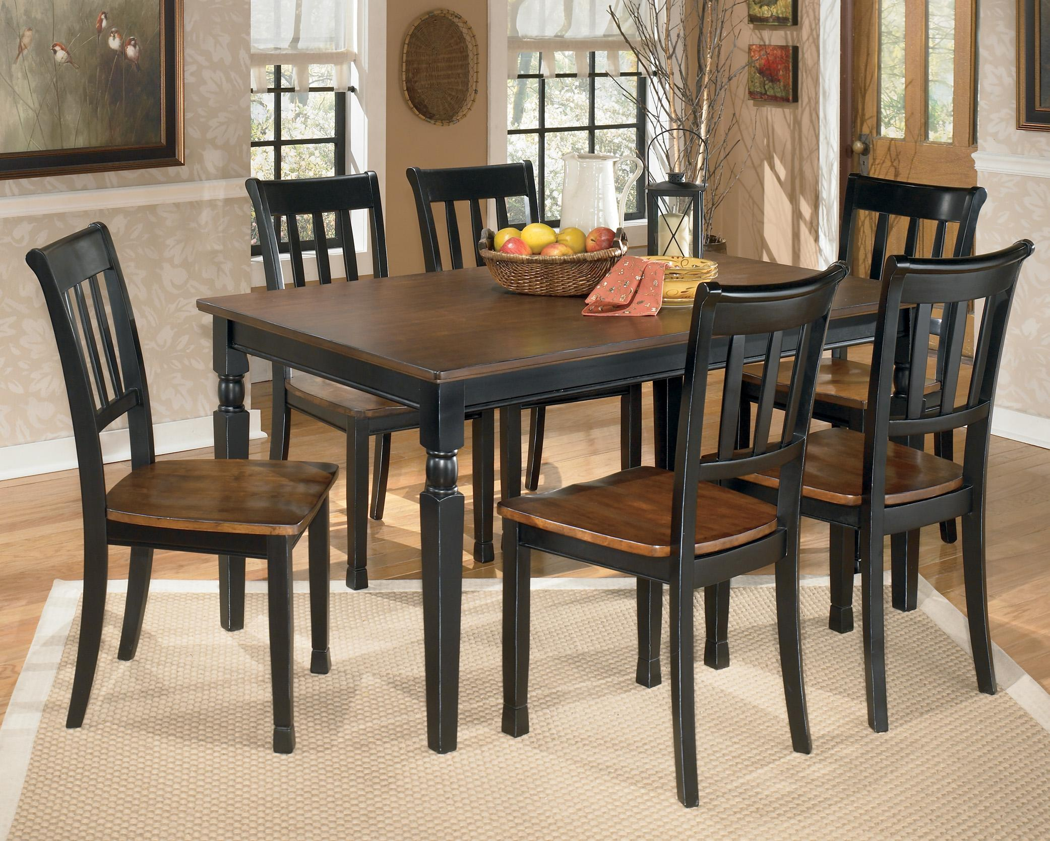 Signature Design by Ashley Owingsville 7 Piece Rectangular Dining     Signature Design by Ashley Owingsville 7 Piece Rectangular Dining Table Set    Item Number