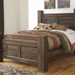 Signature Design By Ashley Quinden Rustic Queen Poster Bed Royal Furniture Panel Beds