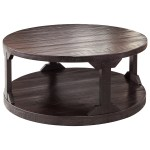 Rogers Rustic Round Cocktail Table With Shelf Ruby Gordon Home Cocktail Coffee Tables