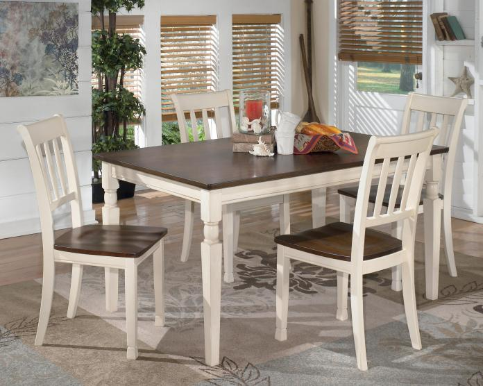 Signature Design By Ashley Whitesburg D583 25 4x02 5 Piece Rectangular Dining Table Set Northeast Factory Direct Dining 5 Piece Sets