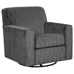 Signature Design By Ashley Zarina Contemporary Swivel Accent Chair Wayside Furniture Upholstered Chairs