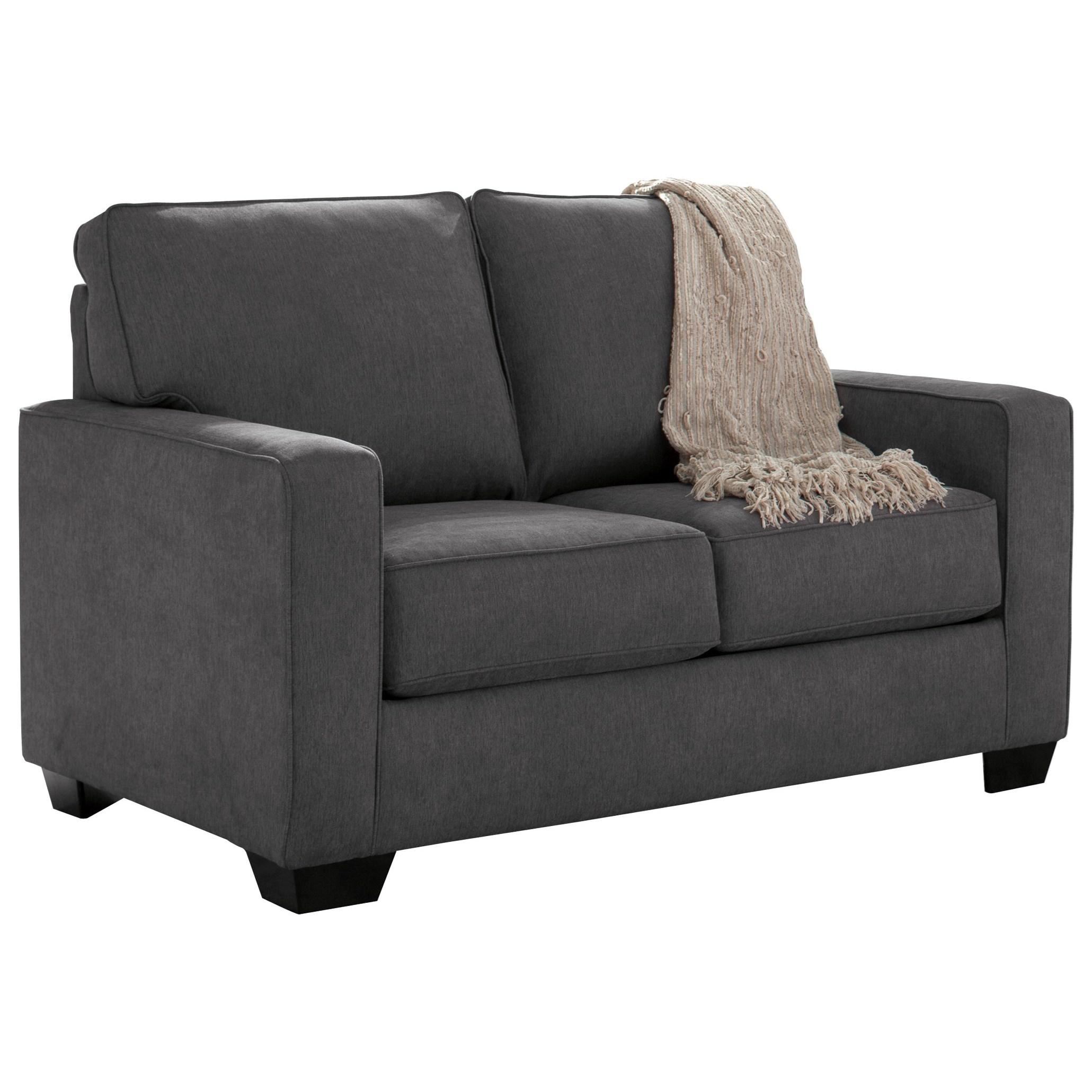 Signature Ziggy Twin Sofa Sleeper With Memory Foam Mattress Walker S Furniture Sleeper Sofas