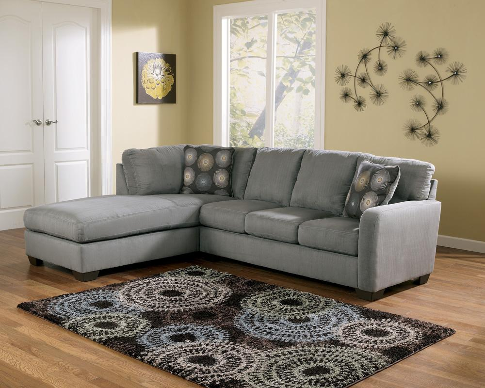 Signature Design By Ashley Furniture Zella Charcoal Contemporary Sectional Sofa With Left Arm