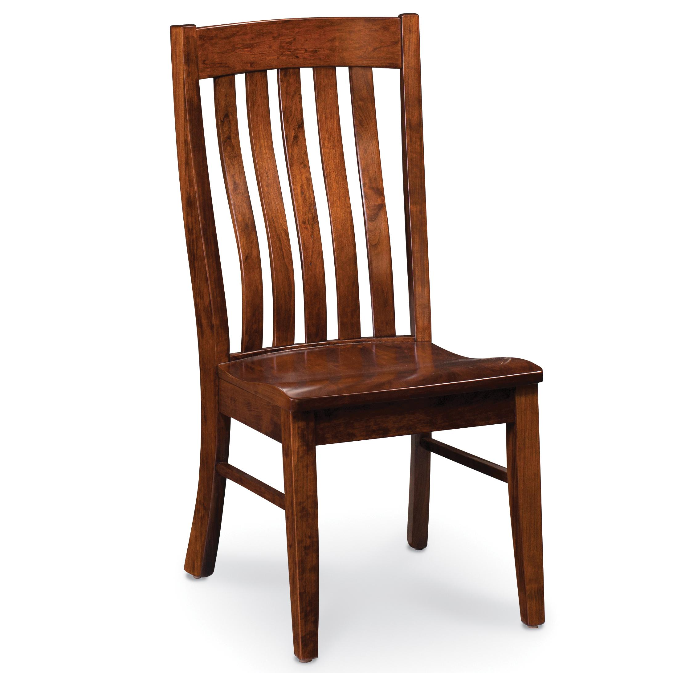 Simply Amish Chairs ECBRD 02A W Bradford Side Chair With