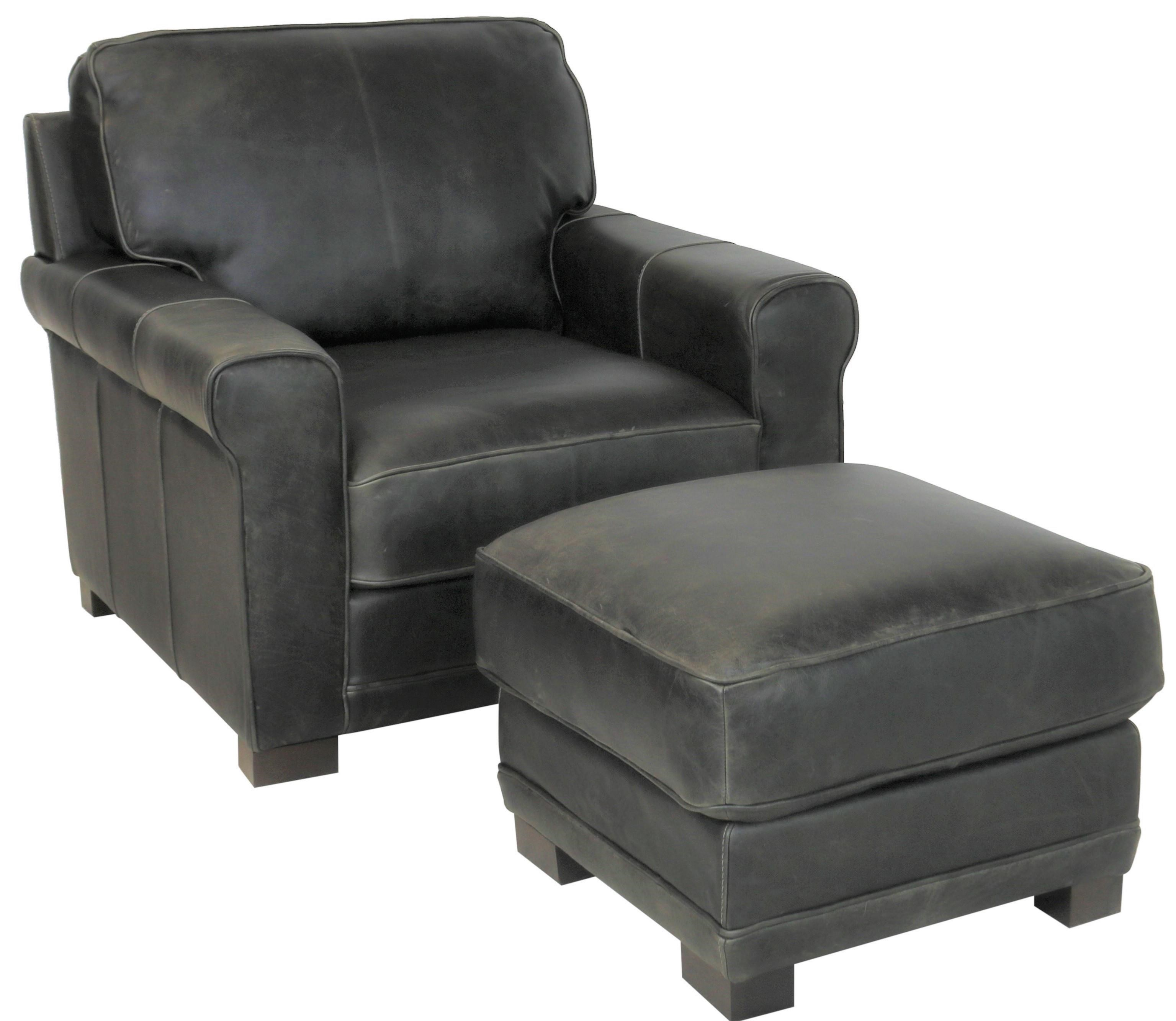 gio collection chair and ottoman