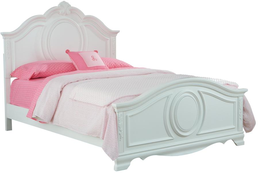 Standard Furniture Jessica Twin Bed with Beaded Pearl Trim   Royal     Standard Furniture Jessica Twin Bed   Item Number  94201 02 03