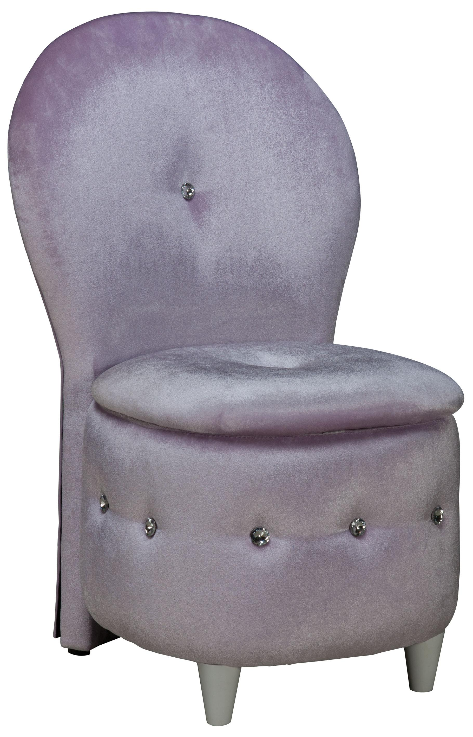 Standard Furniture Sit N Store Lavendar Velvet Chair With Storage Cushion Jacksonville Furniture Mart Upholstered Chair