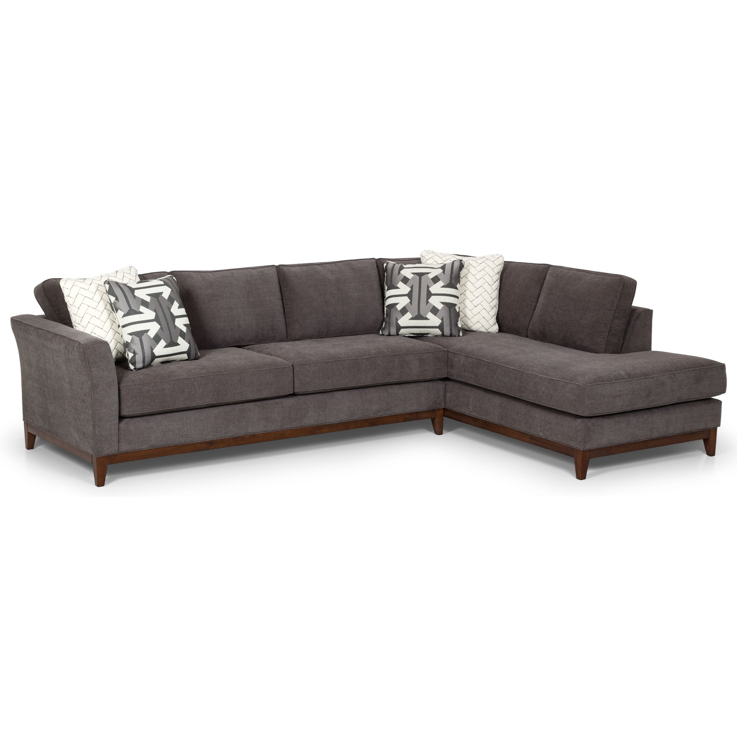 2 piece sectional with oversized chaise