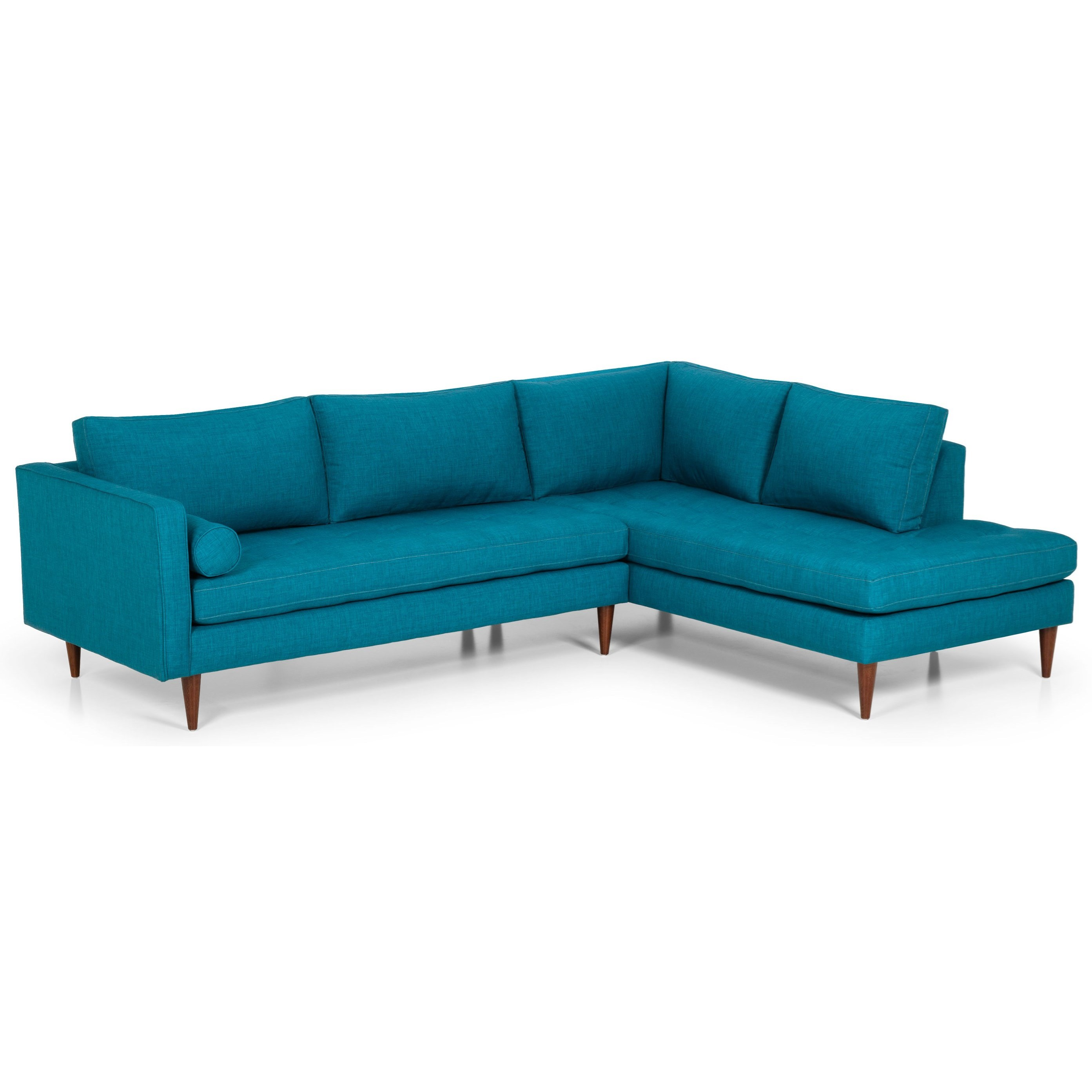 mid century modern l shaped sectional