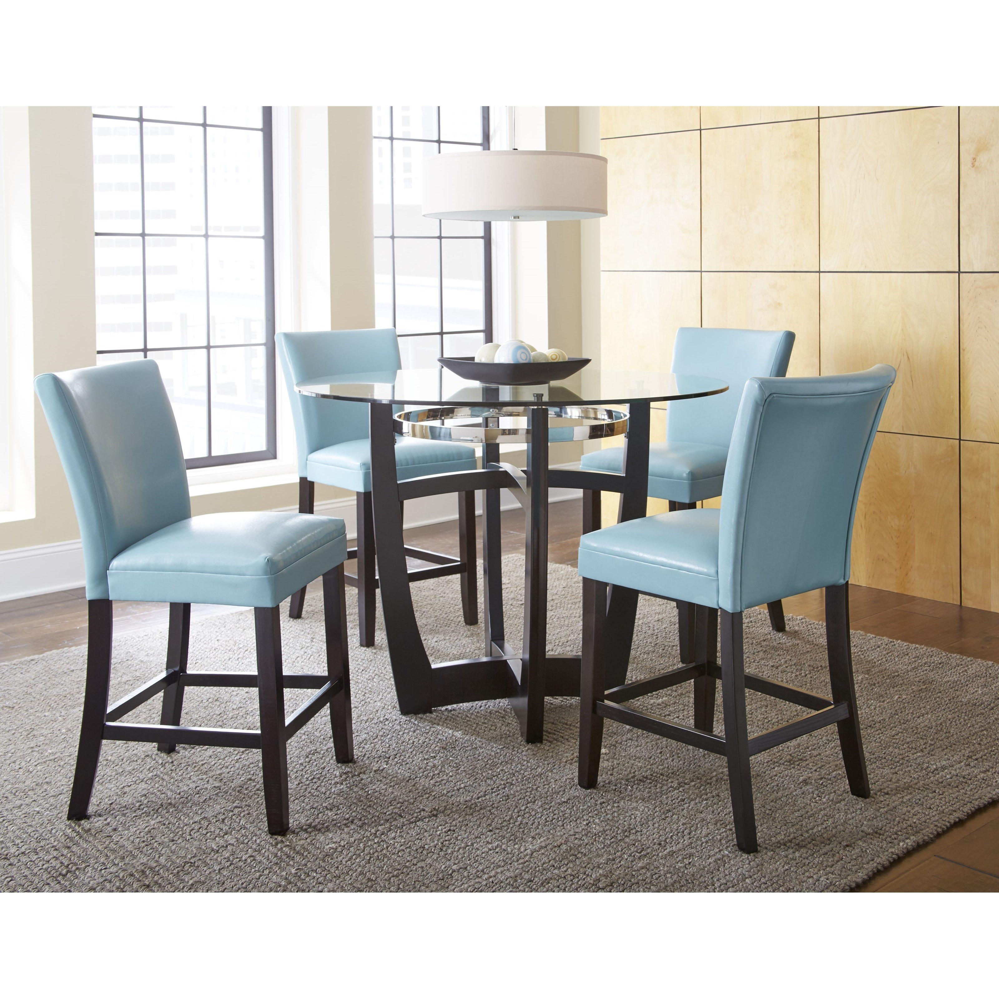 Vendor 3985 Matinee Round Counter Height Table With Glass
