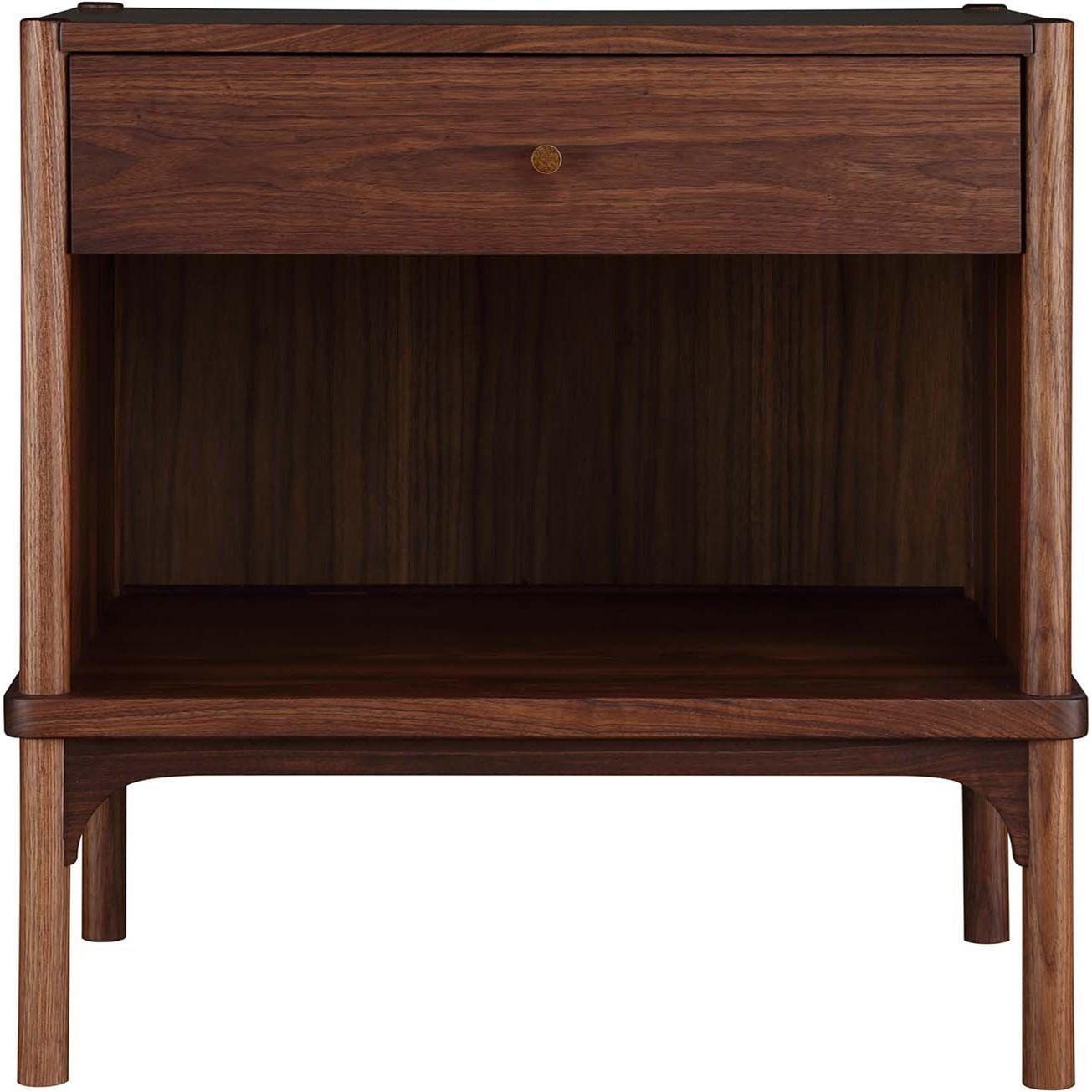 walnut grove open solid wood nightstand