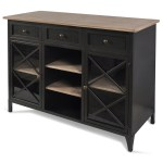 Stylecraft Occasional Cabinets Black Metal Farmhouse Buffet With Wooden Accents Wilcox Furniture Buffets