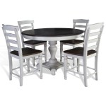 Sunny Designs Bourbon County 5 Piece Round Table Chair Set Becker Furniture Dining 5 Piece Sets