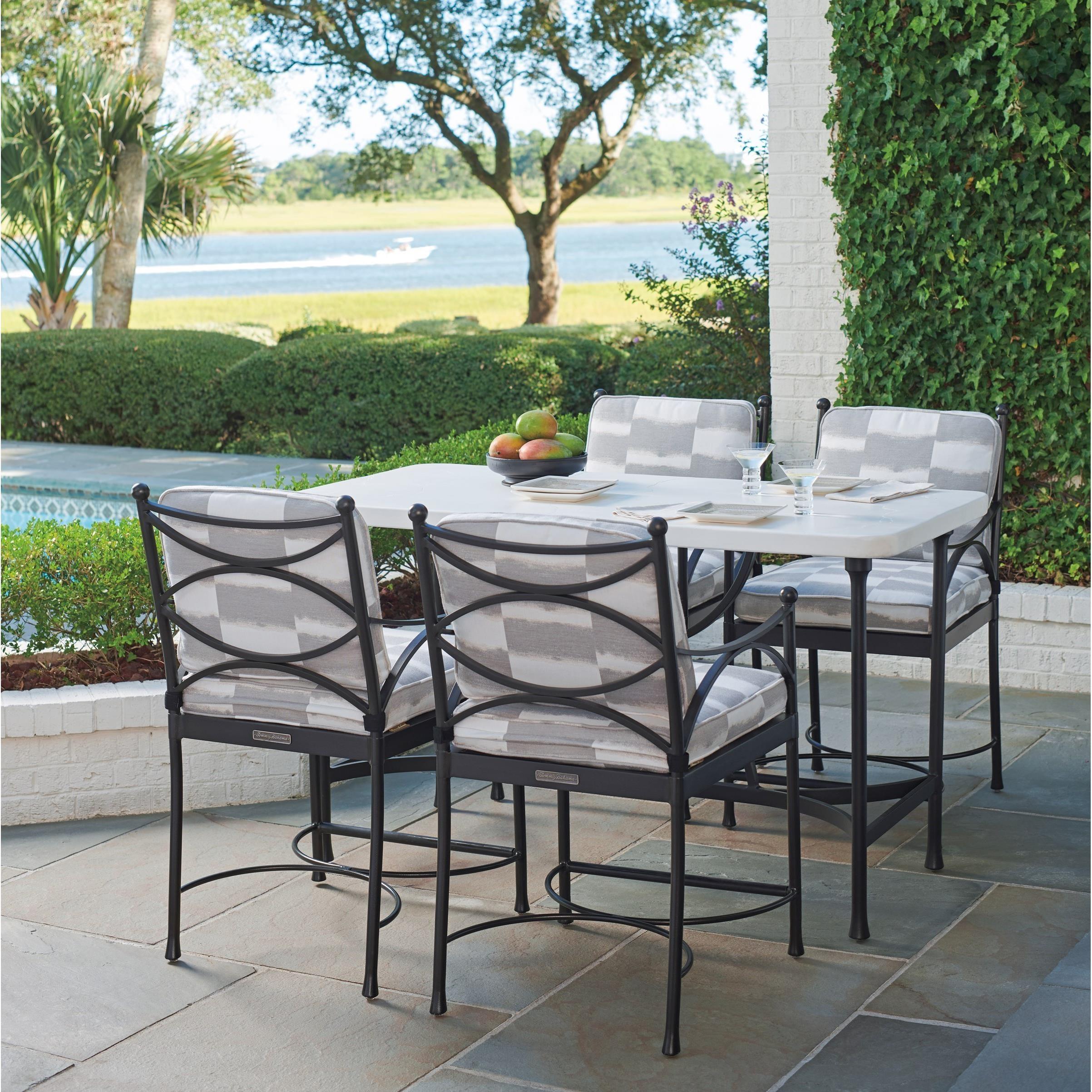 5 piece outdoor hi lo bistro table