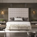 Universal Modern 643220b Brando Bed With Tufted Headboard Baer S Furniture Upholstered Beds