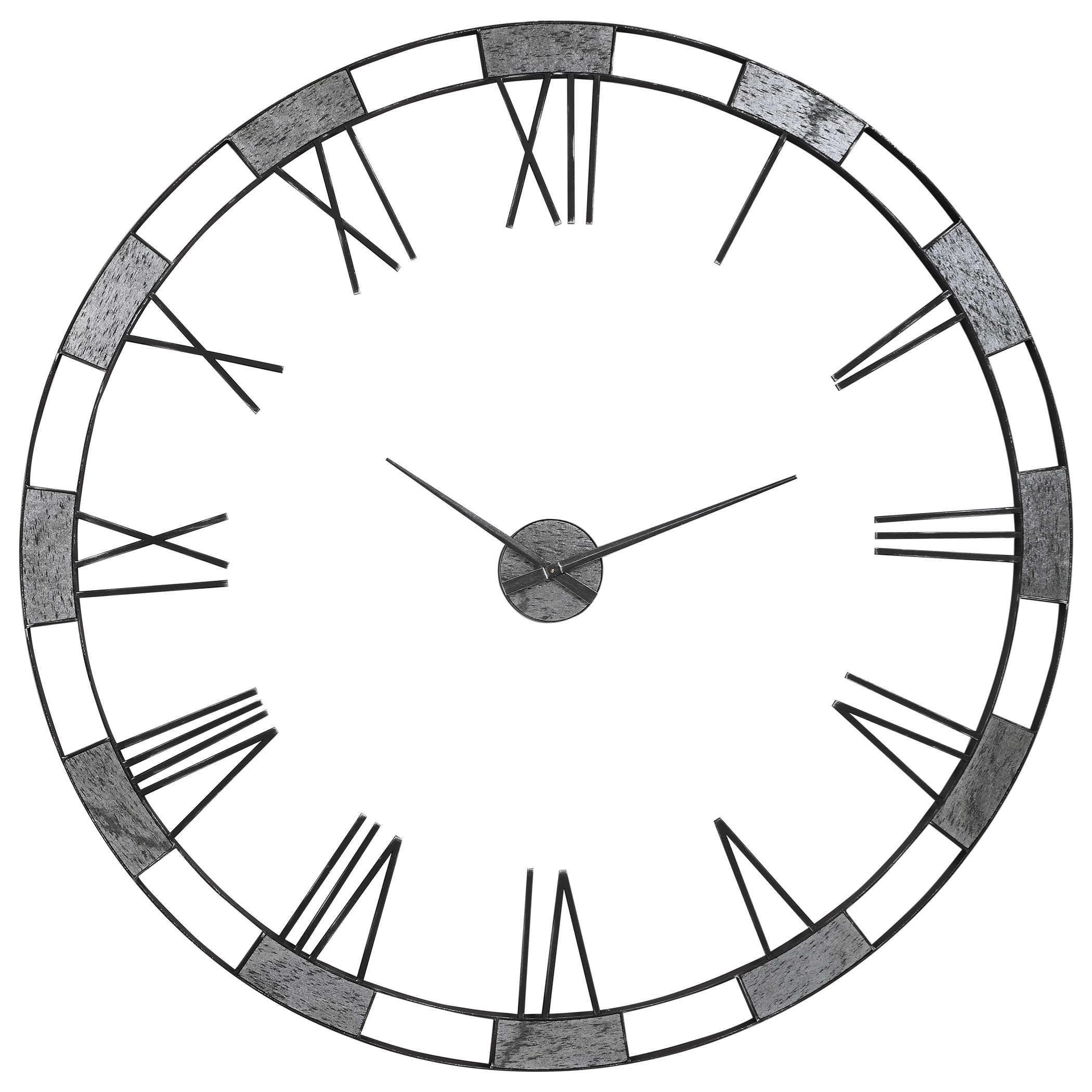 Uttermost Clocks 06460 Alistair Modern Wall Clock Dunk Bright Furniture Wall Clocks