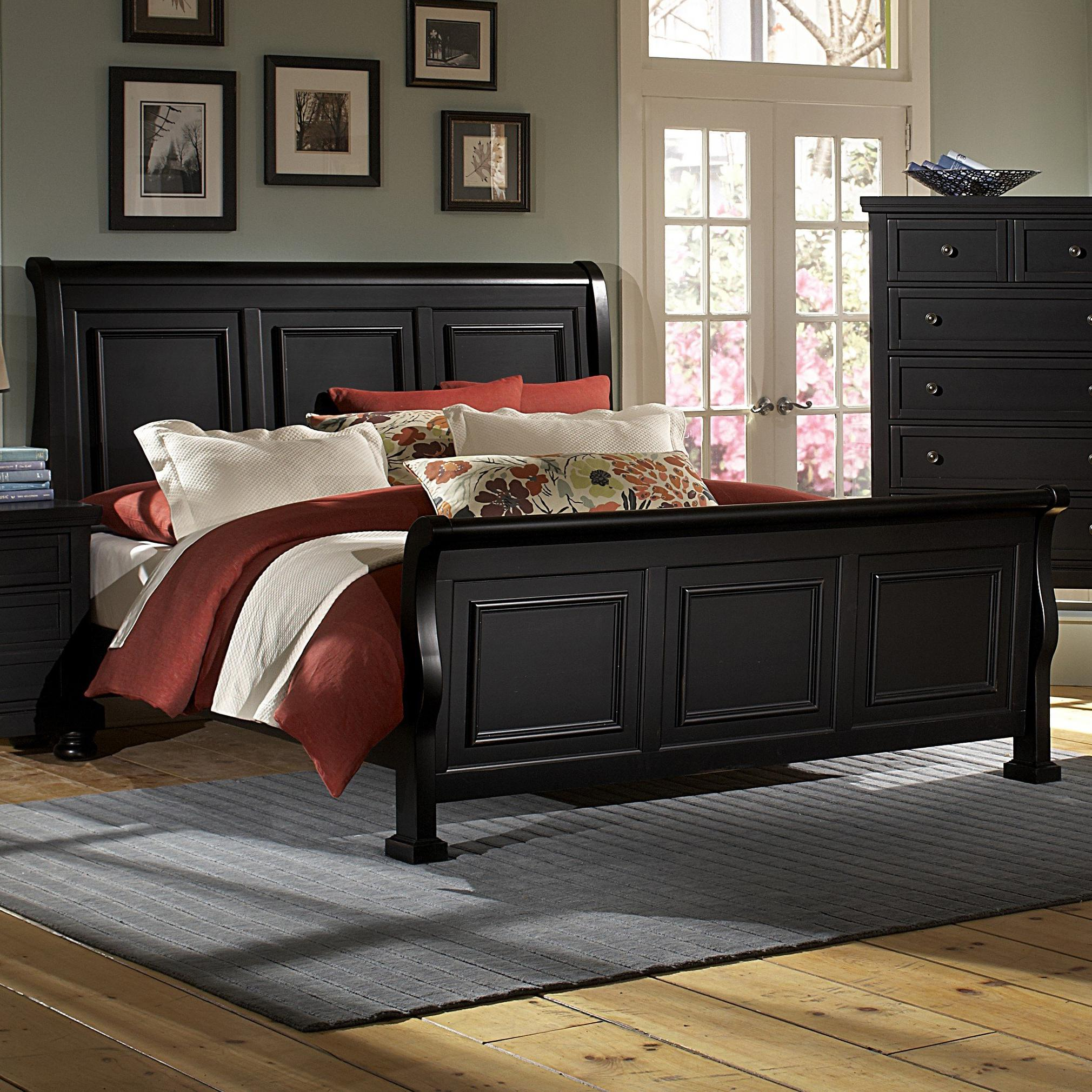 reflections king sleigh bed