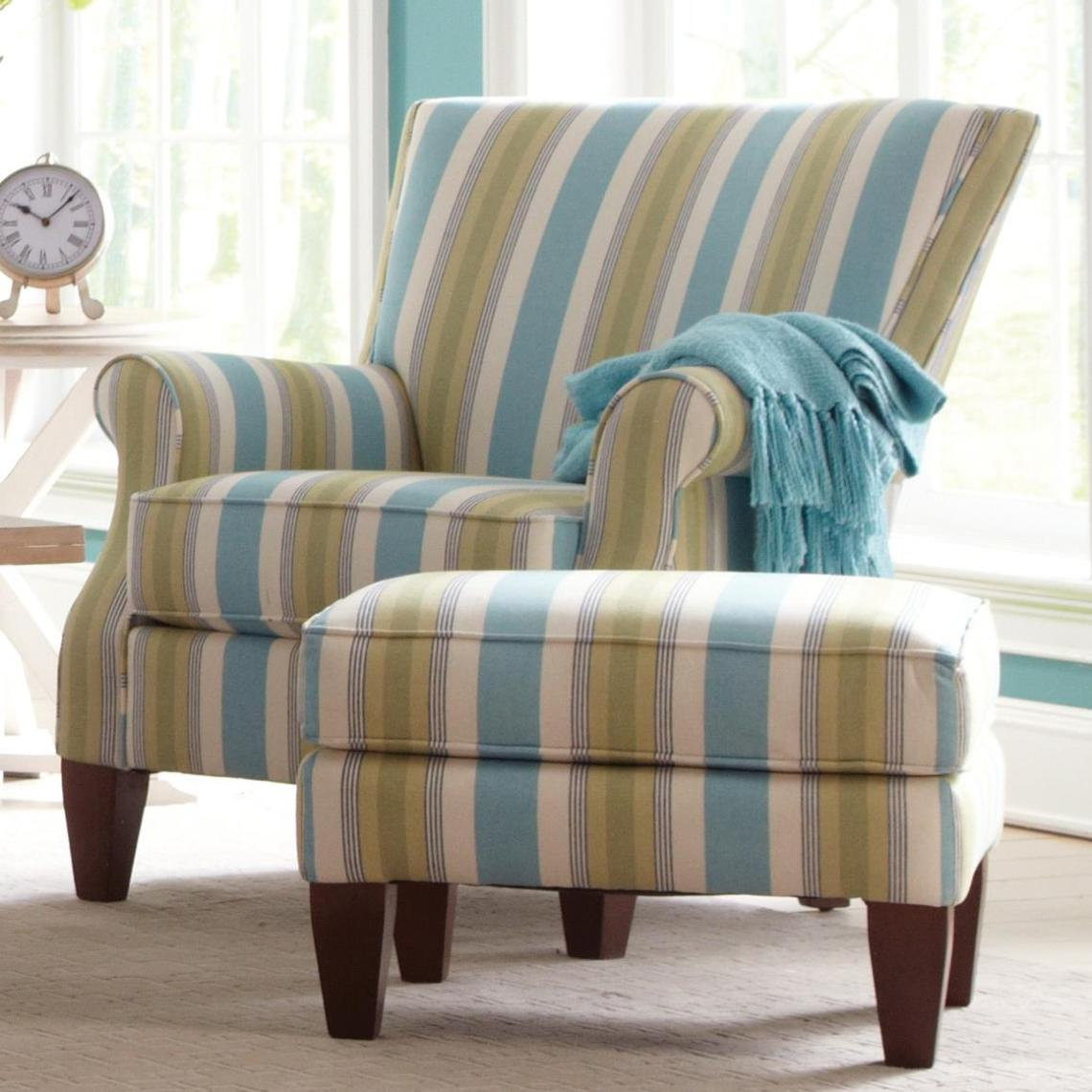 Craftmaster Accent Chairs Contemporary Chair and Ottoman ...