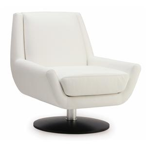Palliser Plato Contemporary Swivel Chair With Metal Base