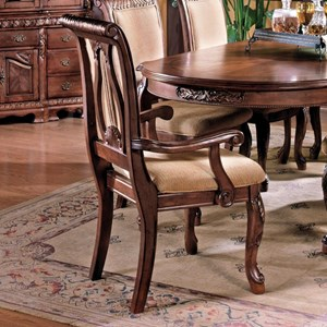 Steve Silver Harmony 7 Piece Traditional Oval Dining Table