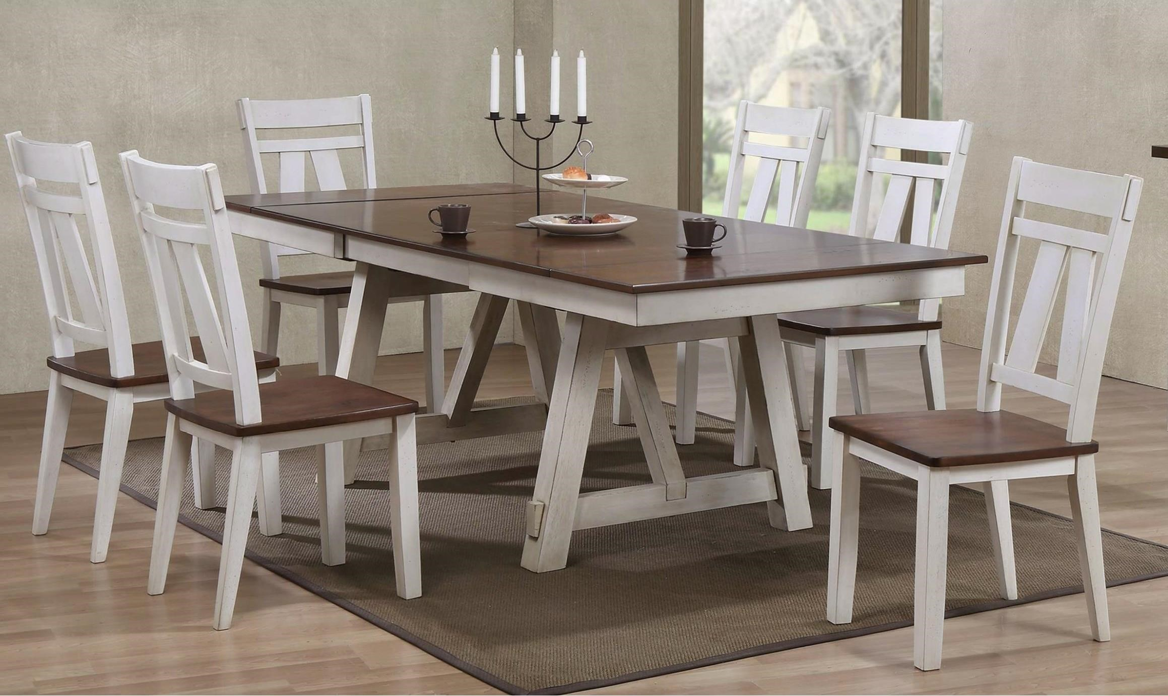 Winslow 7 Piece Two Tone Refectory Table Set Miskelly