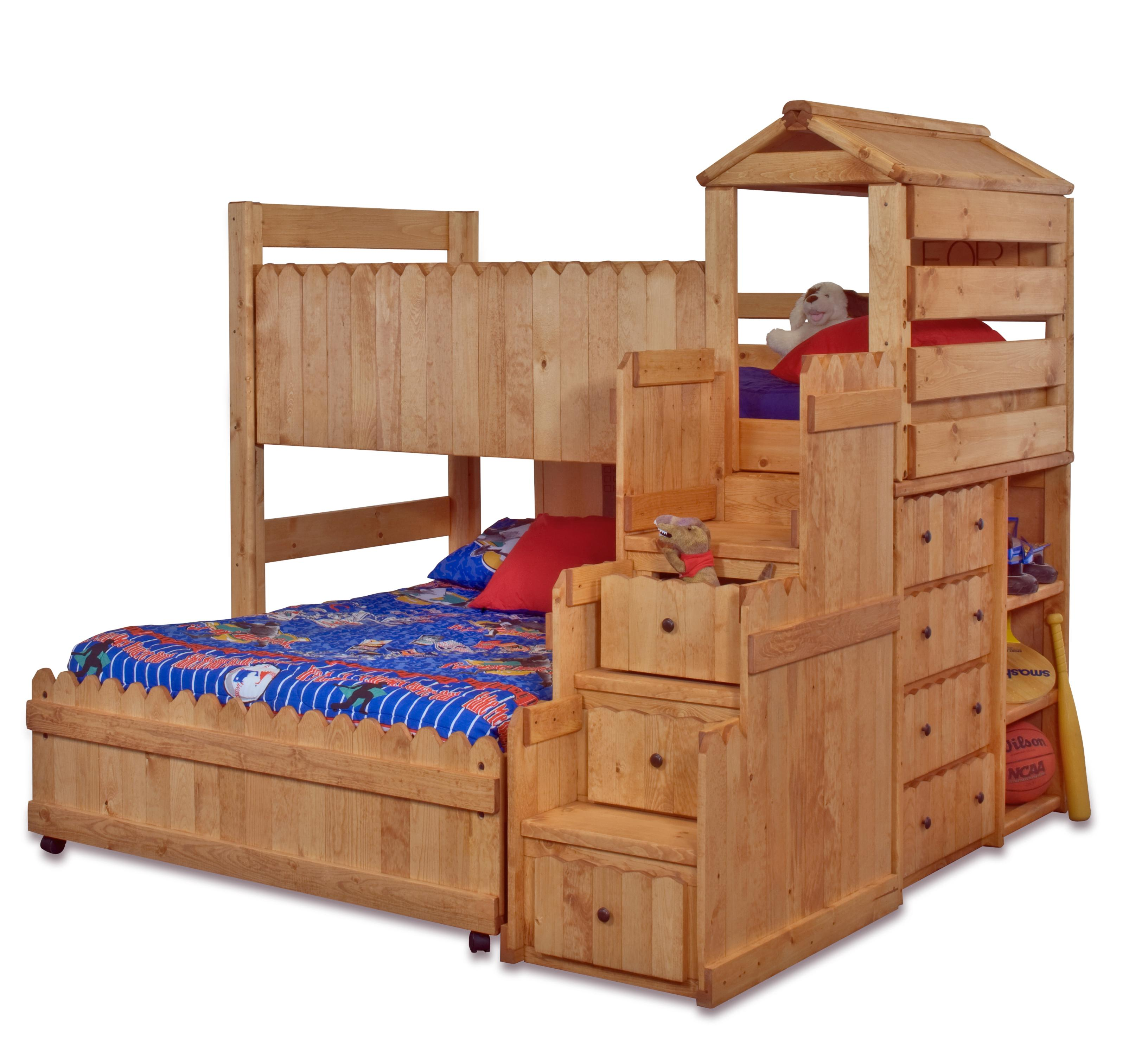 Trendwood The Fort TwinFull Complete Loft Fort Bed With