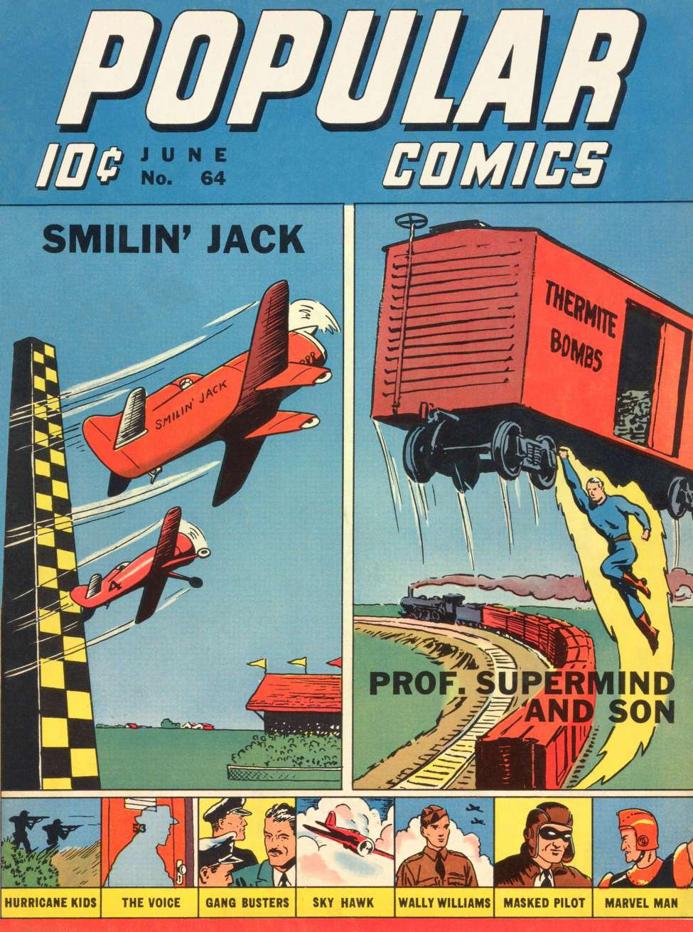 Comic Book Cover For Popular Comics #64