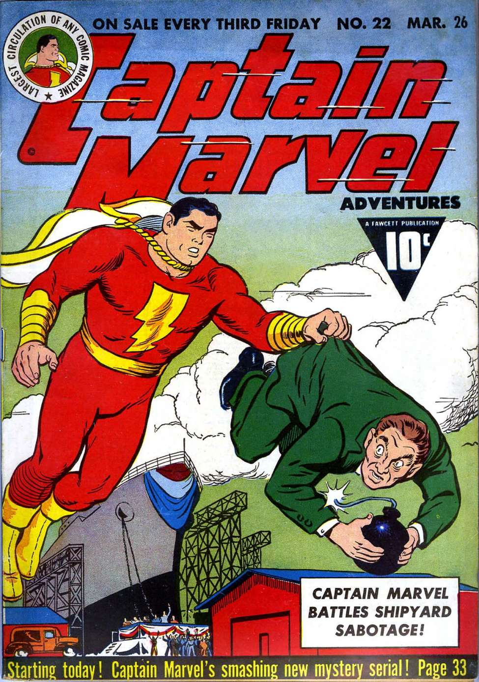 Image result for captain marvel adventures 22