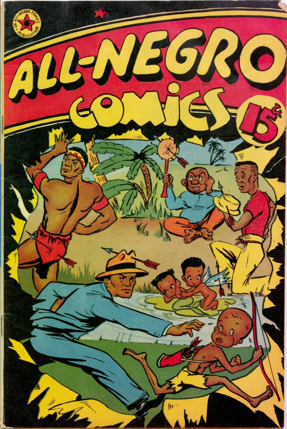 Comic Book Cover For All-Negro Comics #1