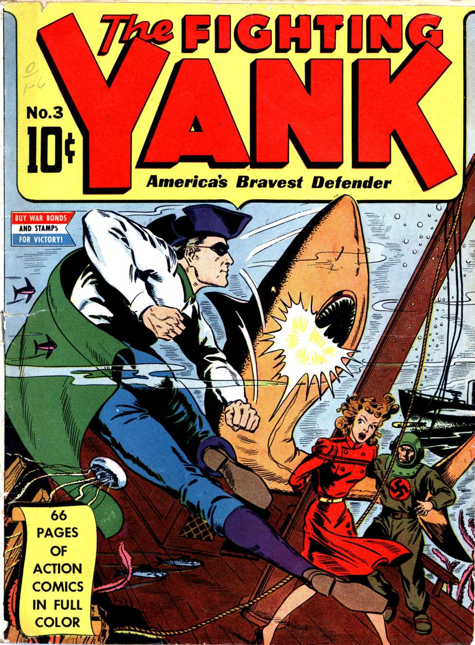 Comic Book Cover For The Fighting Yank #3