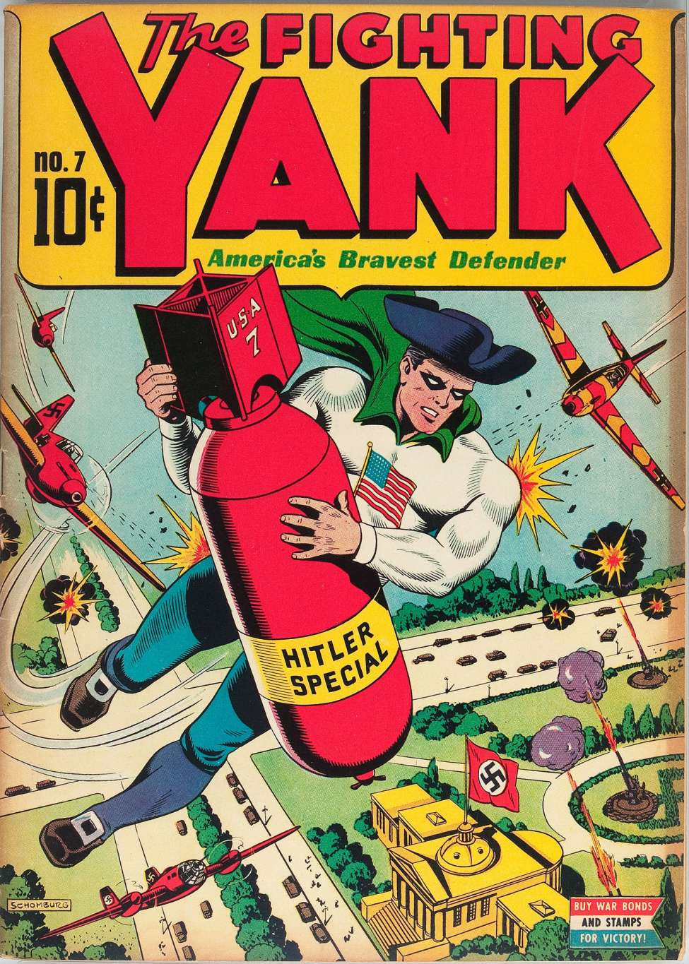 Comic Book Cover For The Fighting Yank #7 - Version 1