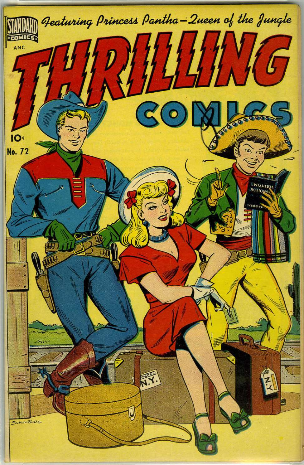 Comic Book Cover For Thrilling Comics #72 - Version 1