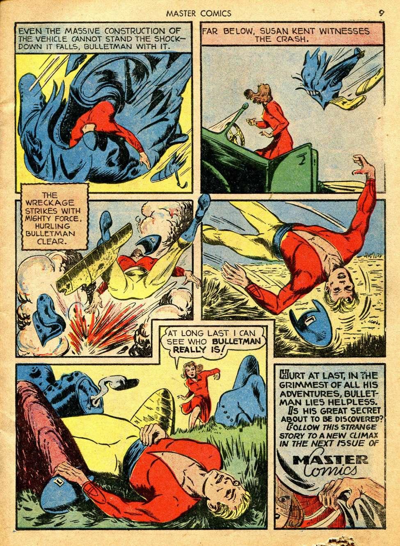 Comic Book Cover For Master Comics #12
