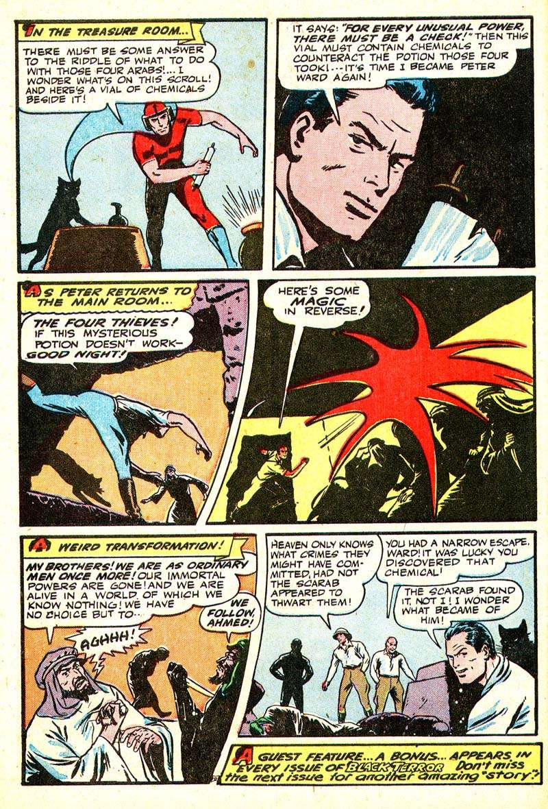 Comic Book Cover For The Black Terror #20