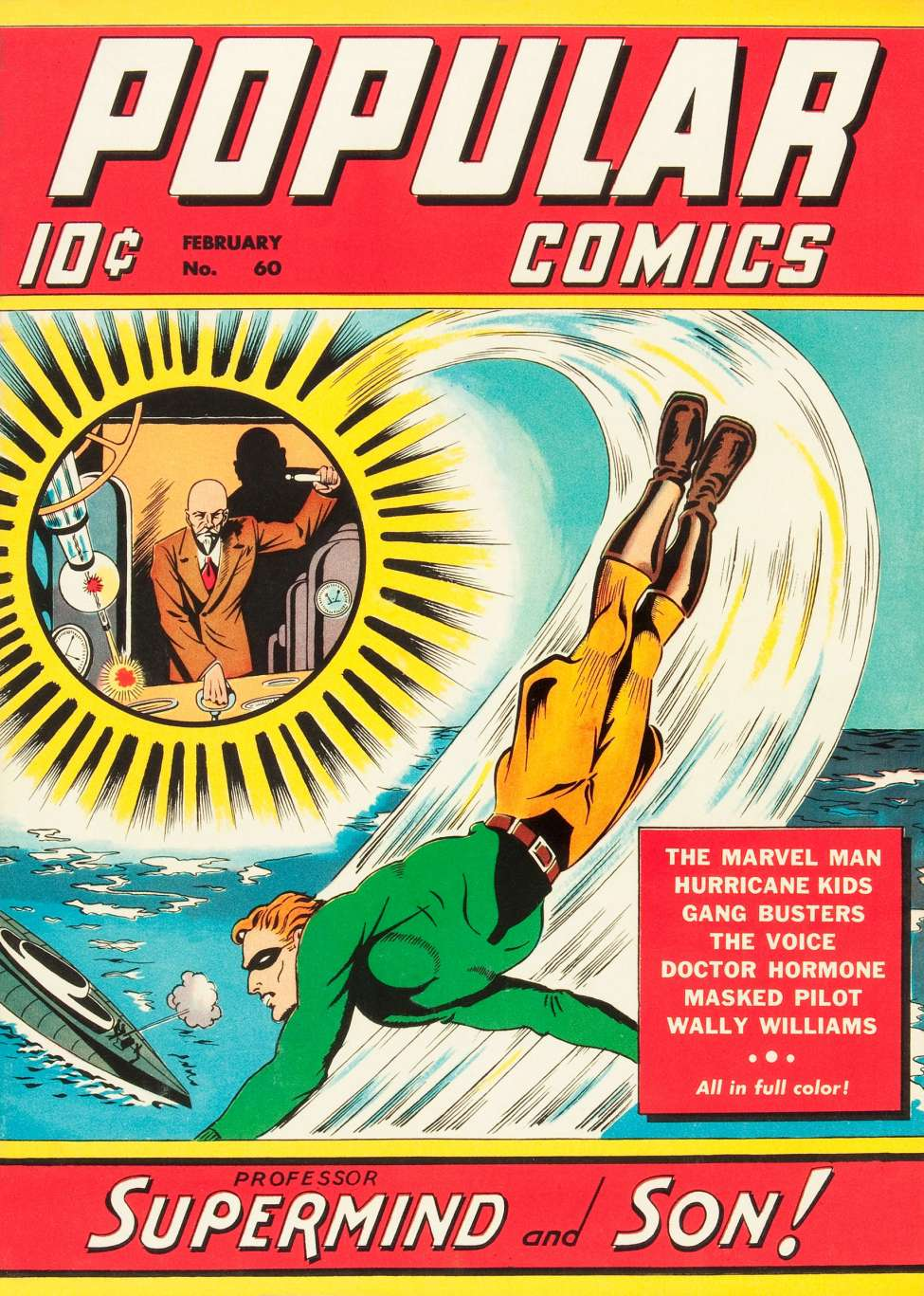 Comic Book Cover For Popular Comics #60