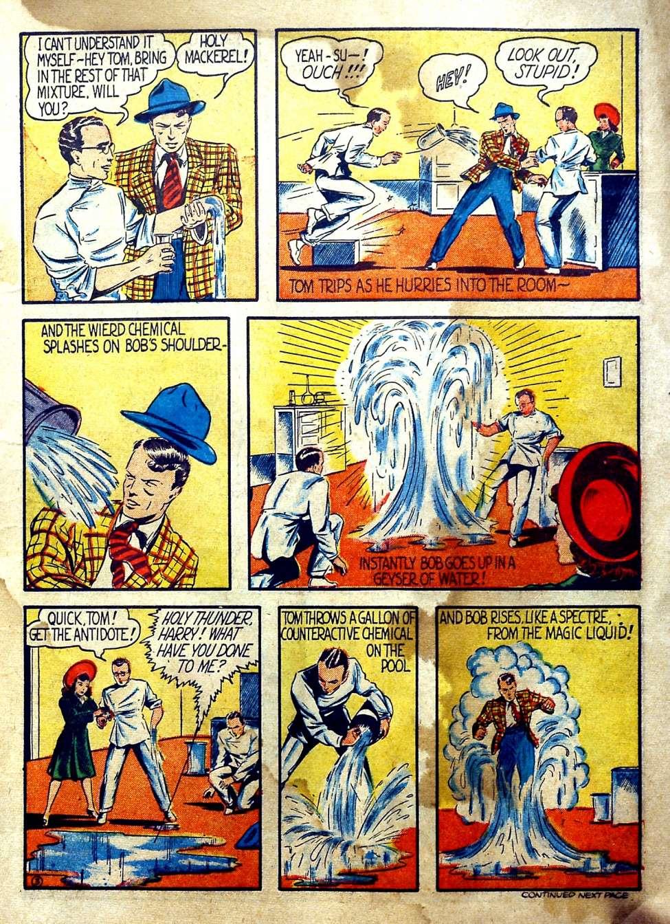 Comic Book Cover For Reg'lar Fellers Heroic Comics #1