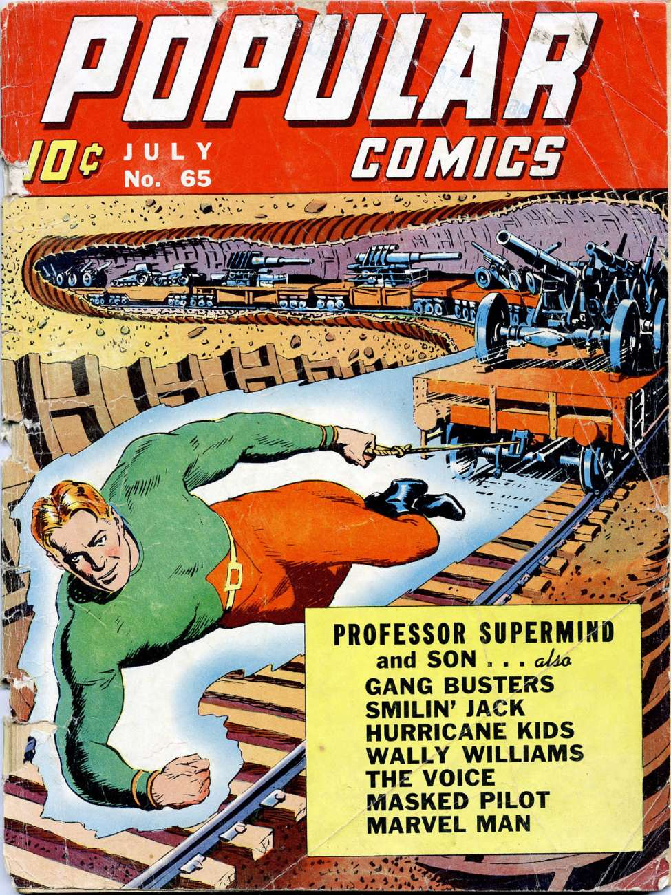 Comic Book Cover For Popular Comics #65